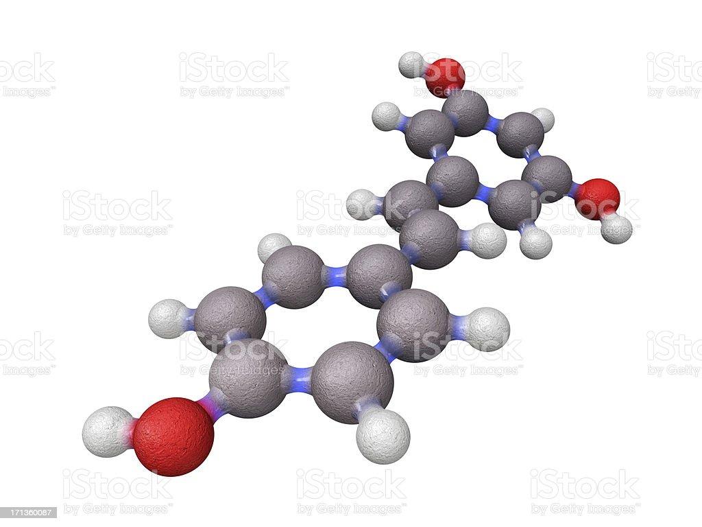 Molecule of Resveratrol stock photo