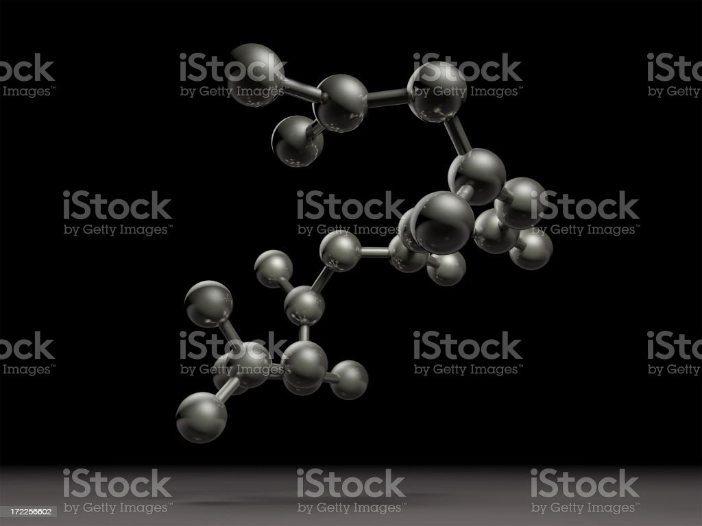 Molecule on the space royalty-free stock photo