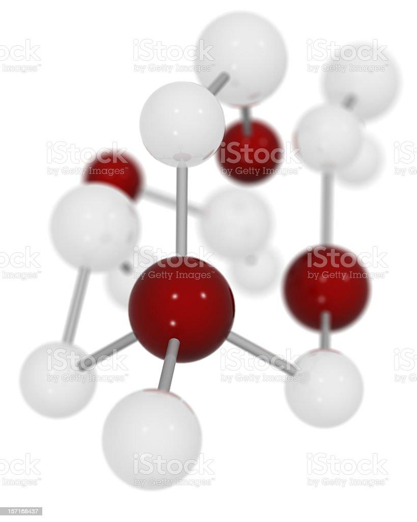 3D Molecule royalty-free stock photo