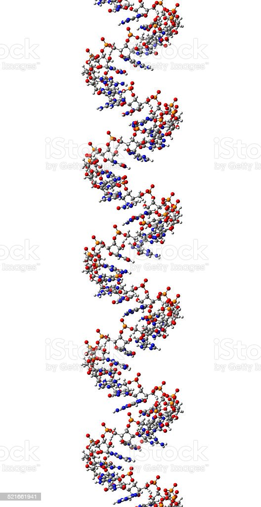 RNA molecule, structural fragment of A-form stock photo