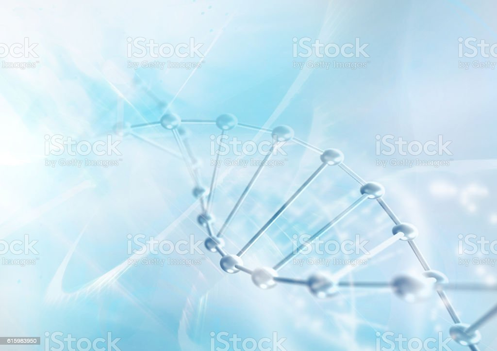 DNA molecule structure background. stock photo