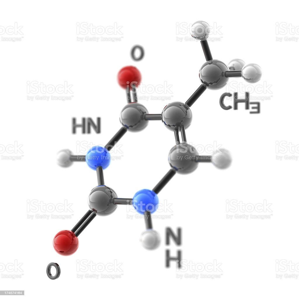 Molecule Thymine stock photo