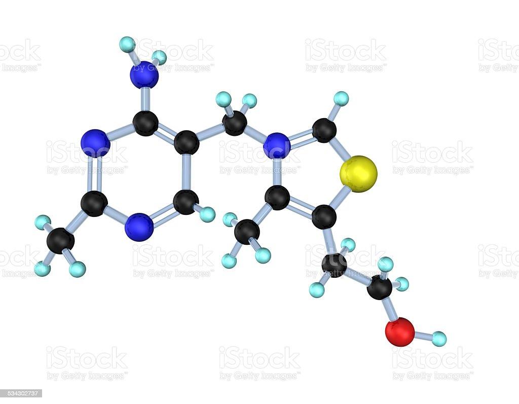 Molecule Vitamin B1 3D stock photo