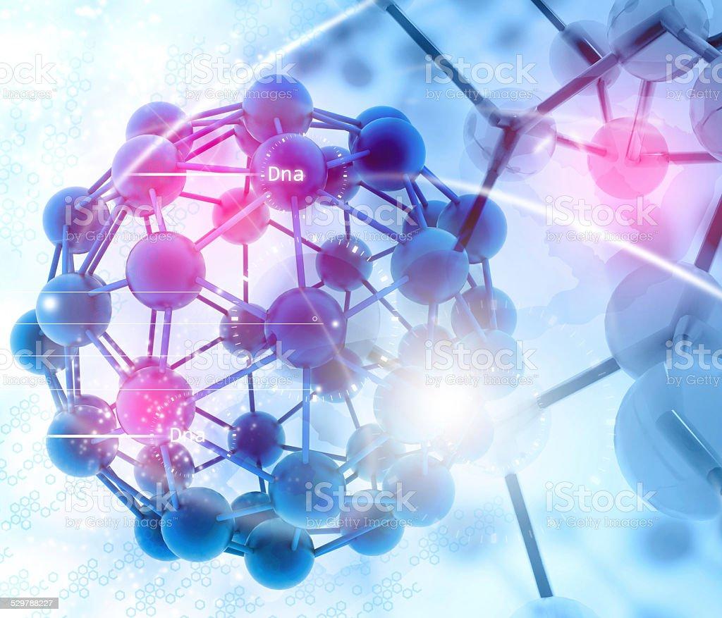 Molecules background stock photo