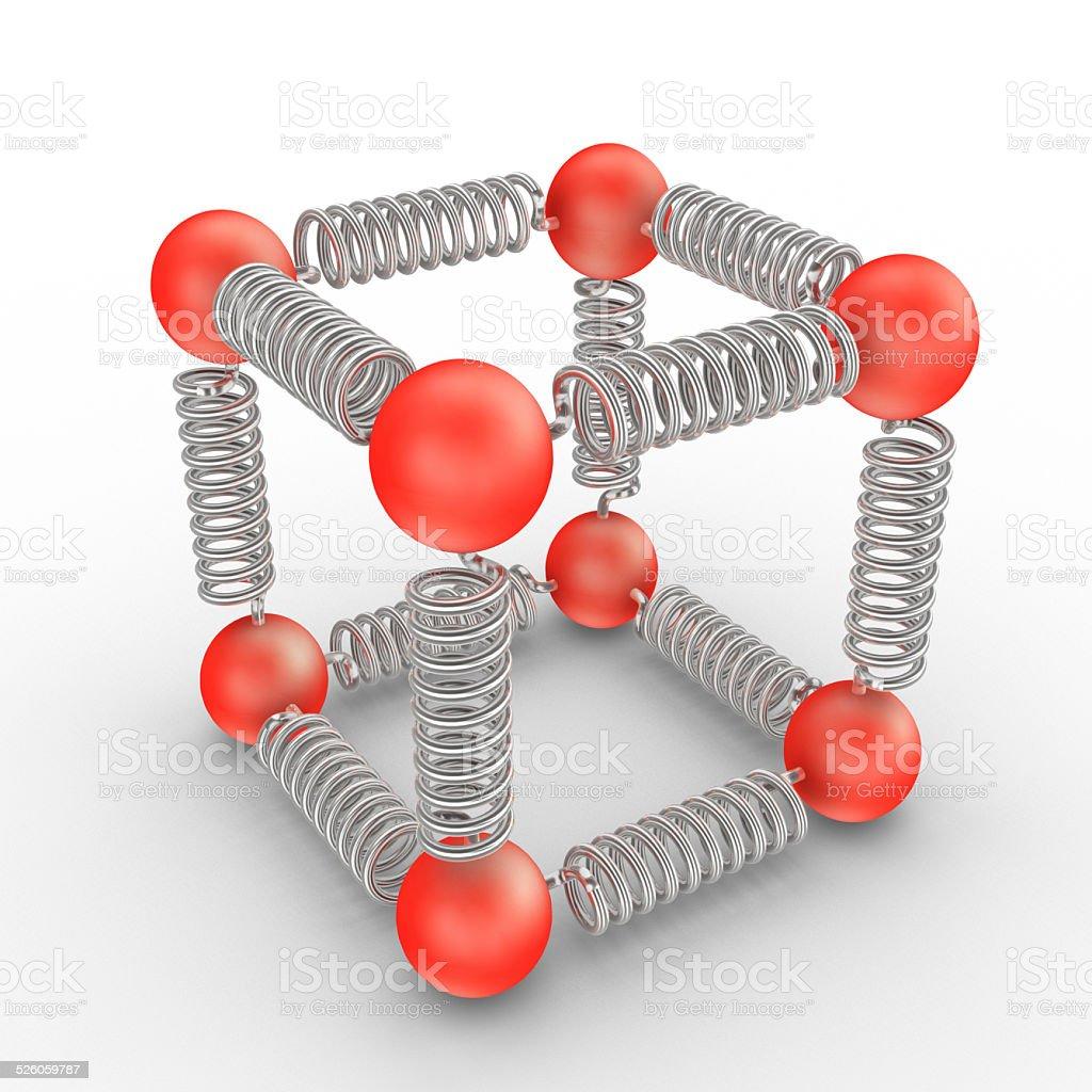 Molecules Bonding stock photo