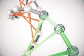 DNA molecules on light background