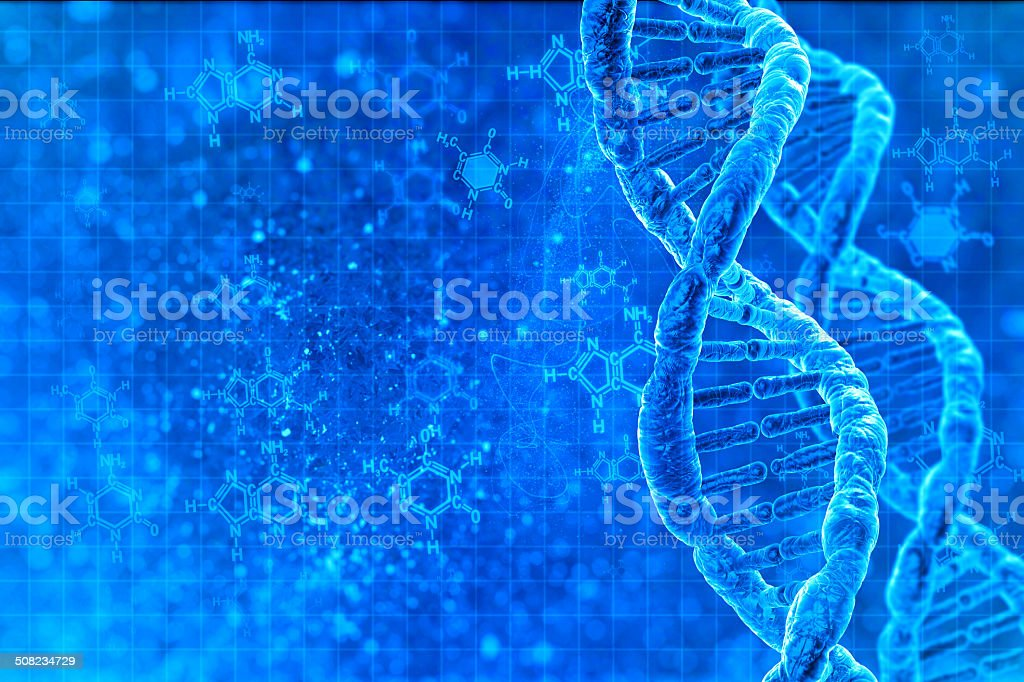 DNA molecules vector art illustration