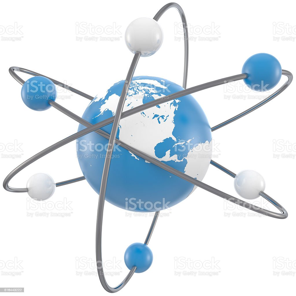Molecules that make up Earth stock photo
