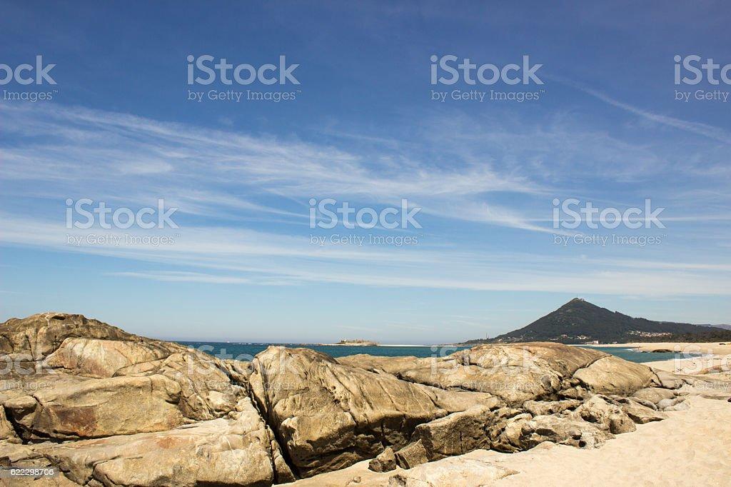 Moledo beach. royalty-free stock photo