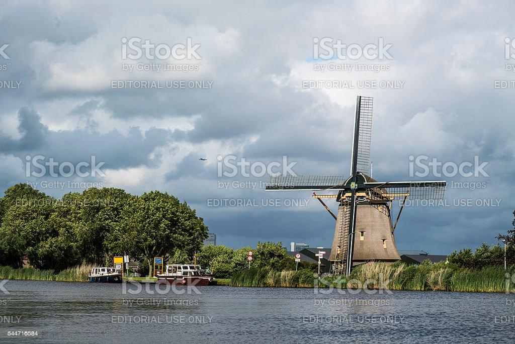 Molen de Zwaan Oudekerkerdijk Ouderkerk aan de Amstel stock photo