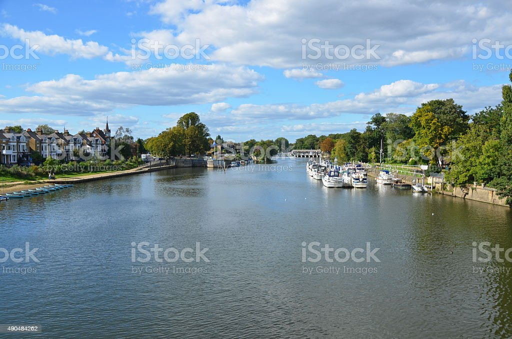 Molesey River Thames stock photo