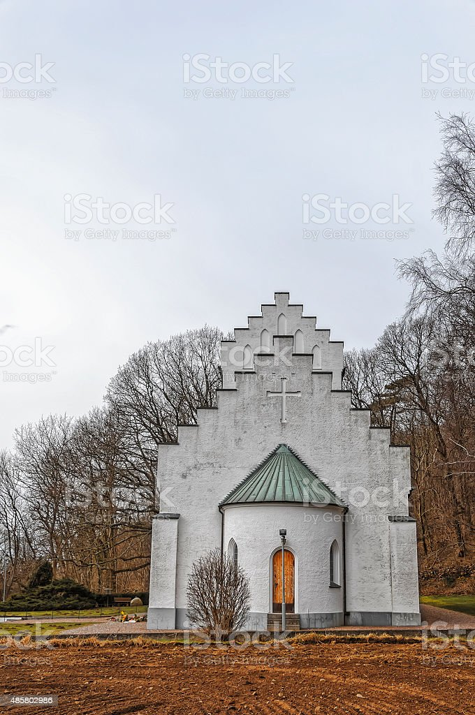 Molle Church stock photo