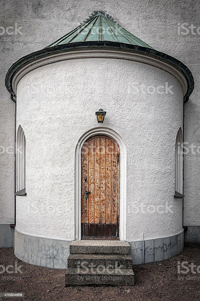 Molle Kapell Back Door stock photo