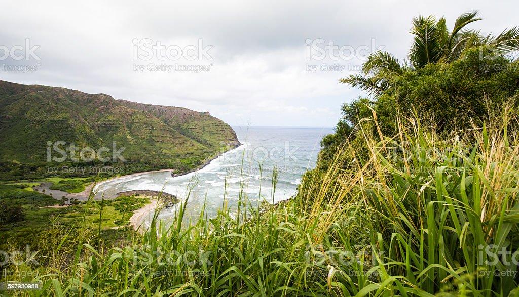Molokai, Hawaii Beach Panorama stock photo