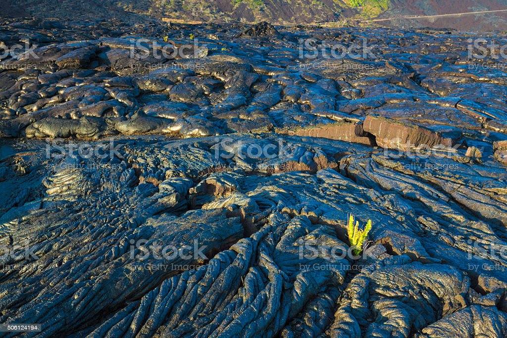 Molten cooled lava stock photo
