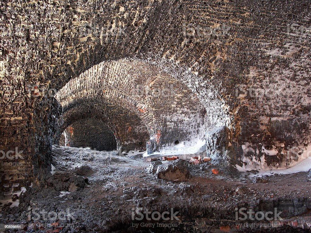 Molten fortress stock photo