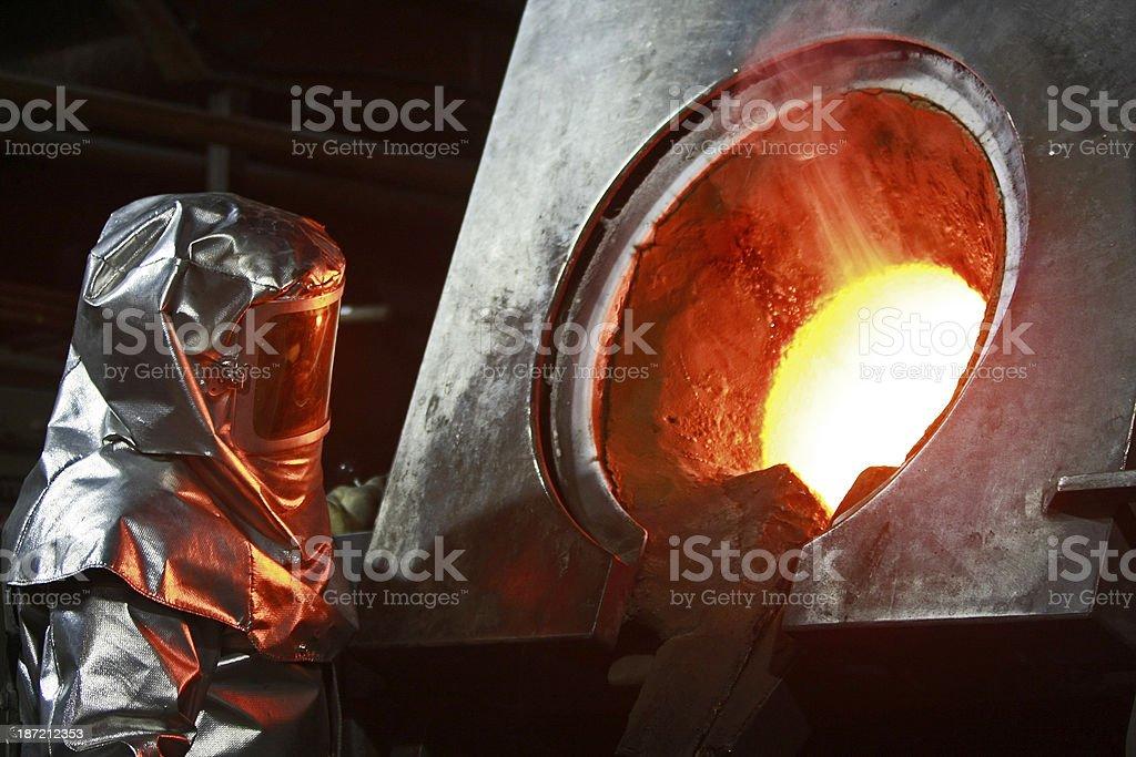 Molten Gold stock photo