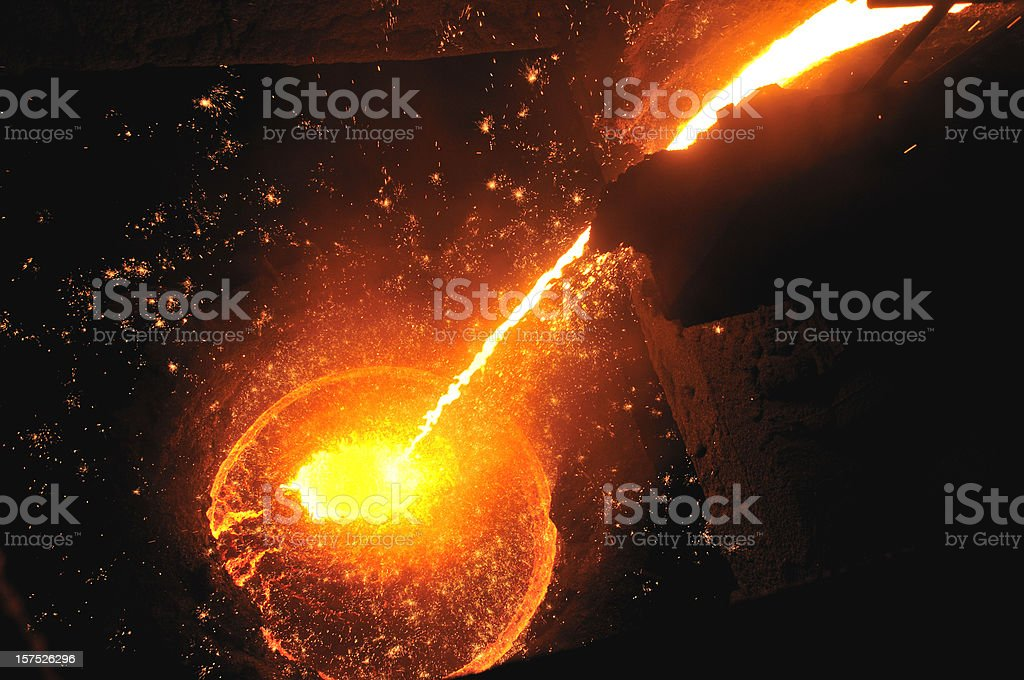 molten iron royalty-free stock photo