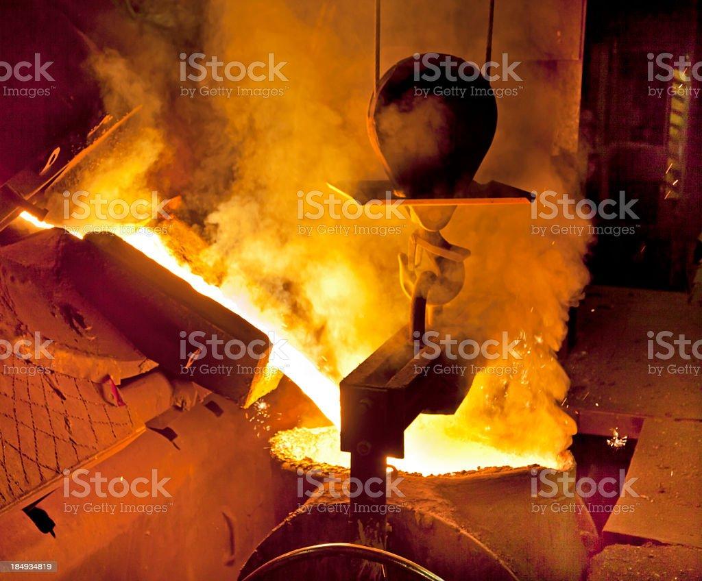 Molten Iron stock photo