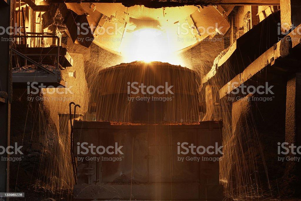 Molten steel royalty-free stock photo