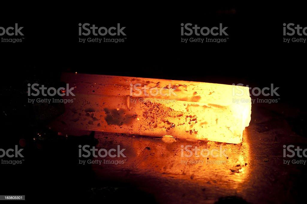 Molten Steel stock photo