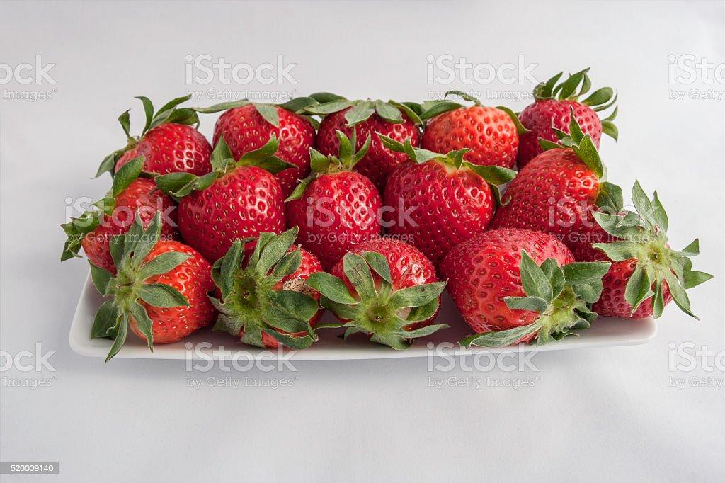 moltitudine di fragole mature stock photo