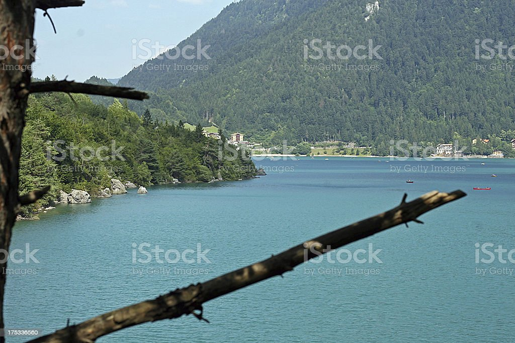 Molveno lake during summer royalty-free stock photo