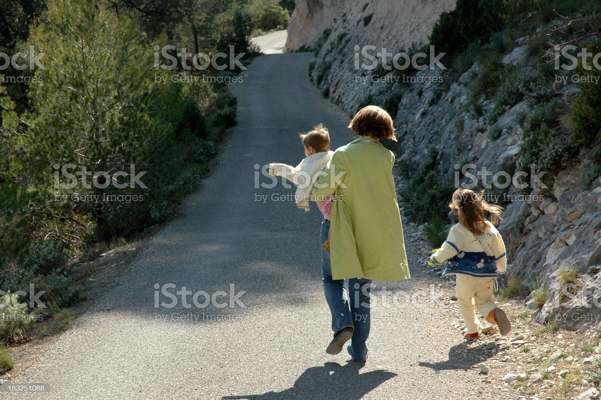 Mom & Children royalty-free stock photo