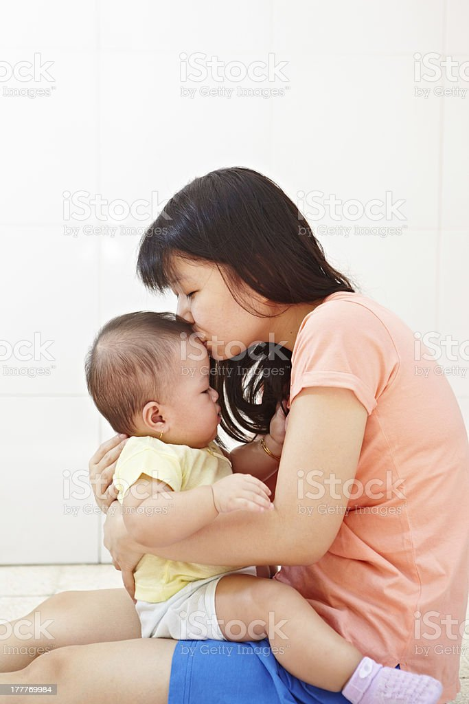 Mom and baby daugher royalty-free stock photo