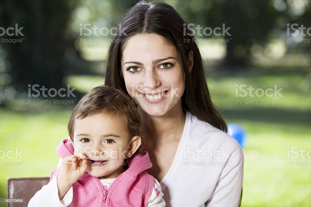 Mom and Baby Girl royalty-free stock photo