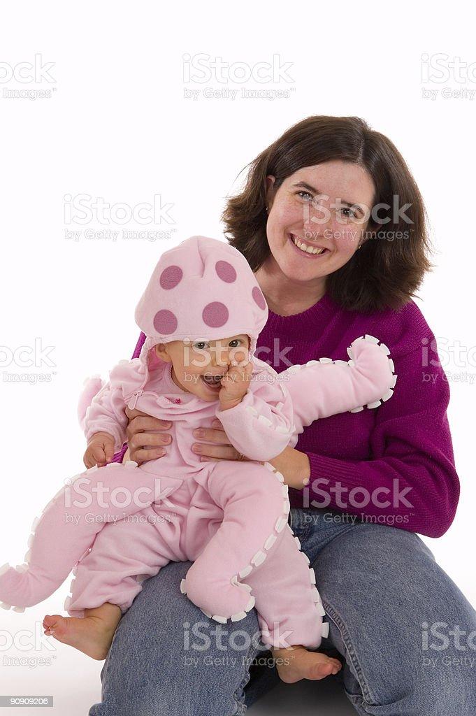 Mom and Baby Halloween Portrait stock photo