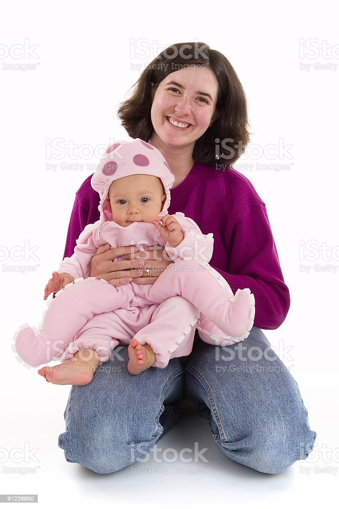 Mom and Baby's First Halloween stock photo