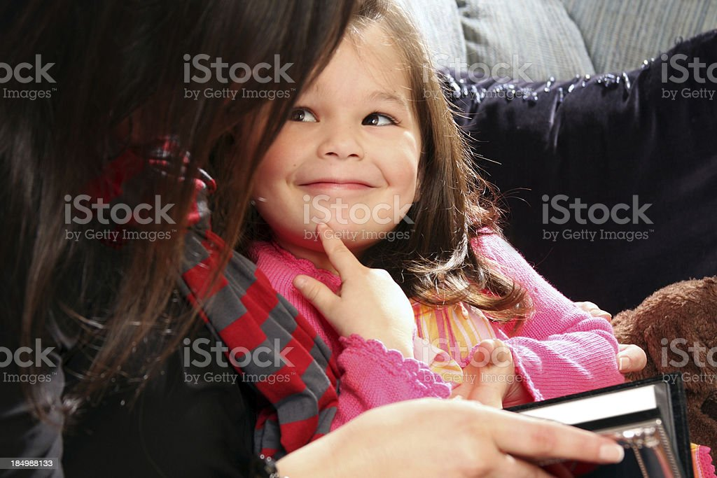 Mom and daughter moment royalty-free stock photo