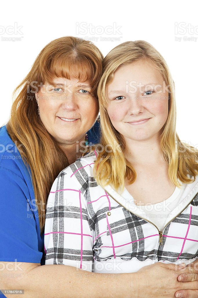 Mom and Daughter Portrait royalty-free stock photo
