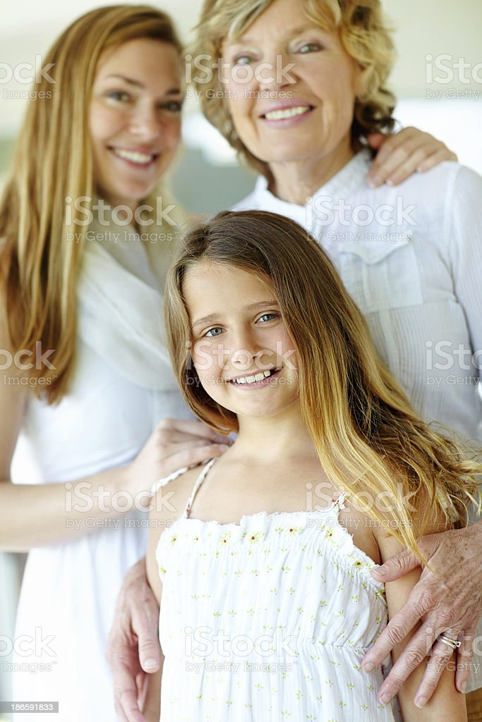 Mom and gran say I look beautiful in my dress royalty-free stock photo