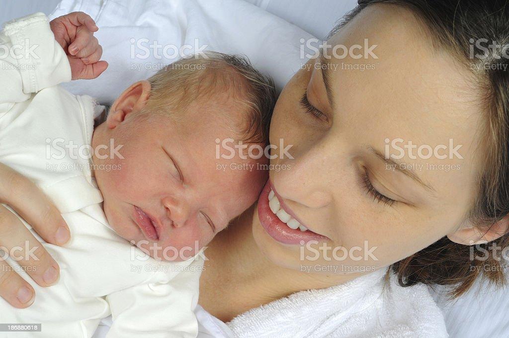 Mom and Newborn stock photo