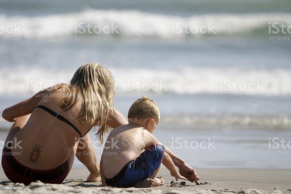 Madre, bambino, Tatuaggio foto stock royalty-free
