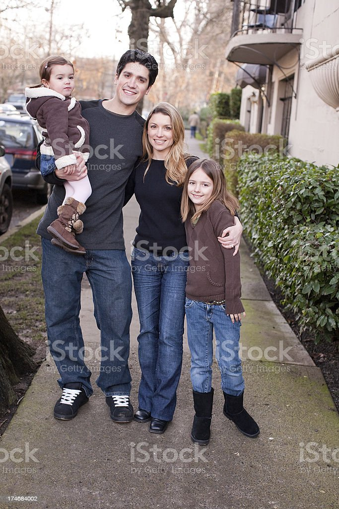 mom, dad and daughters royalty-free stock photo