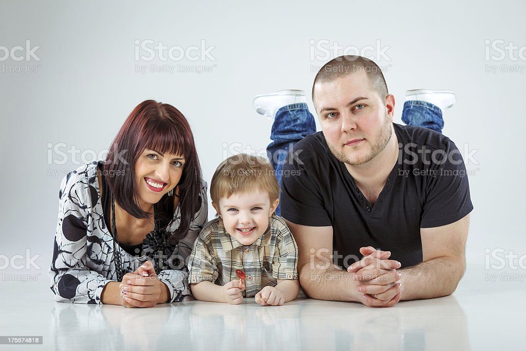 Mom dad and son royalty-free stock photo