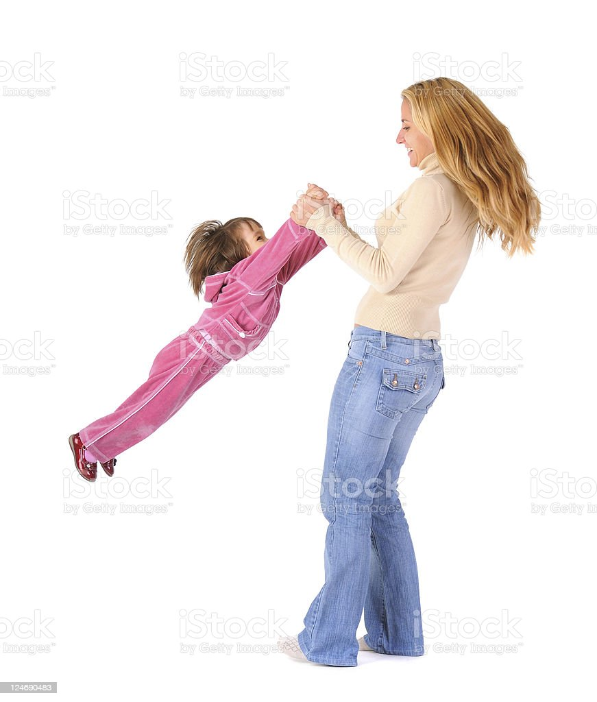 Mom playing with daughter royalty-free stock photo