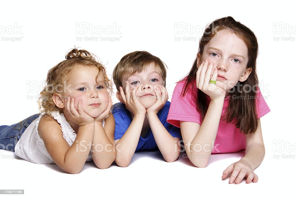 Mom, we're bored! royalty-free stock photo