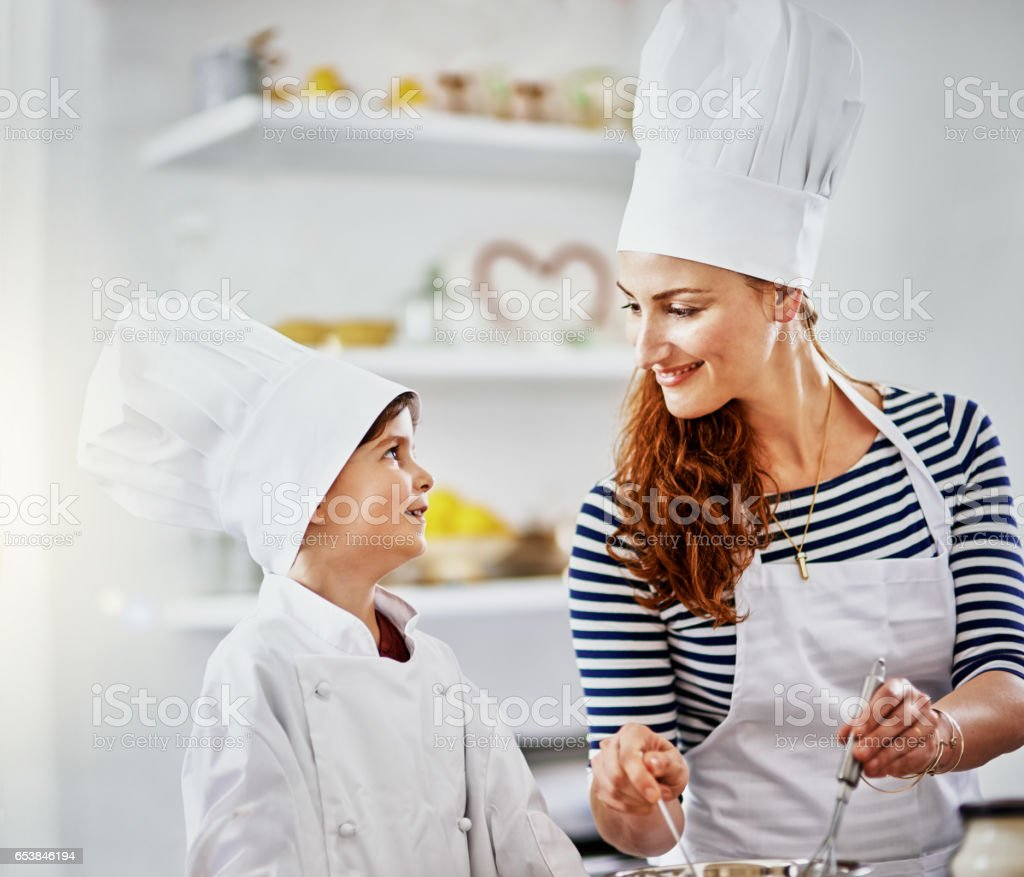 Mom, you inspire me stock photo