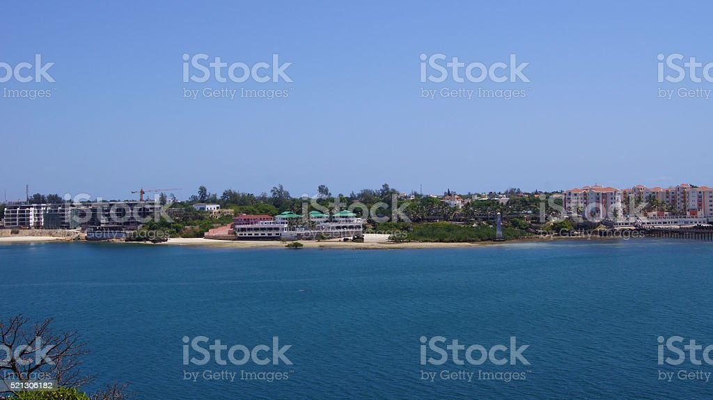 Mombasa, Kenya. Old Port.  Panorama stock photo