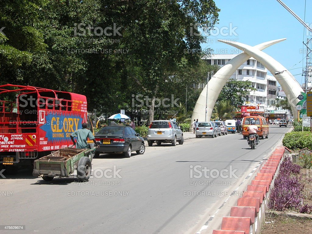 Mombasa Tusks stock photo