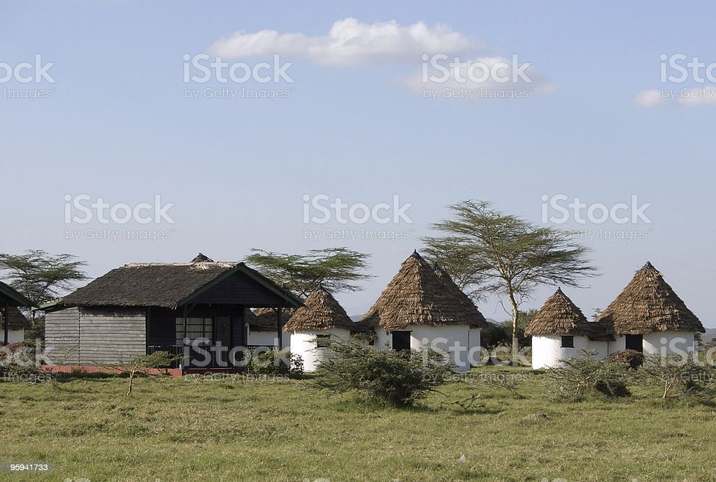 Momela Wildlife Lodge in Africa stock photo