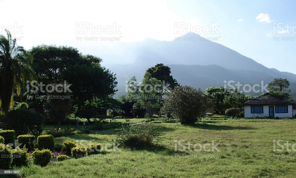 Momela Wildlife Lodge scenery stock photo