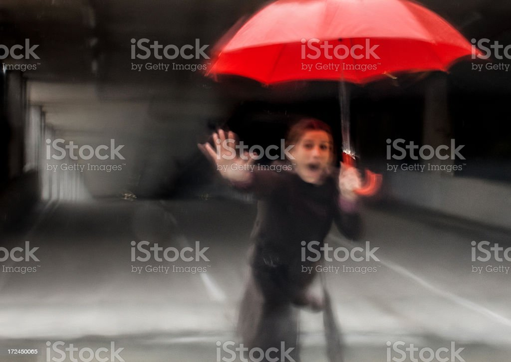 Moment before accident royalty-free stock photo
