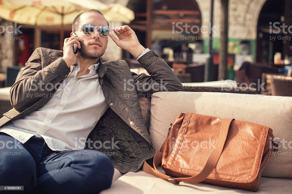 Moment for talk royalty-free stock photo
