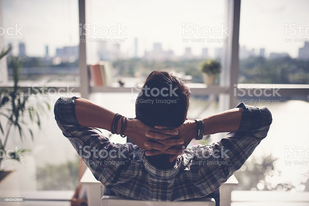 Moment of relaxation stock photo