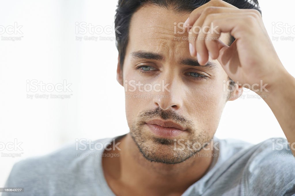 Moments of melancholy stock photo
